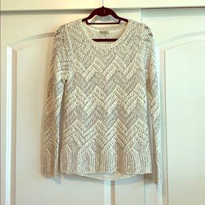 Lucky Brand cream & silver sweater